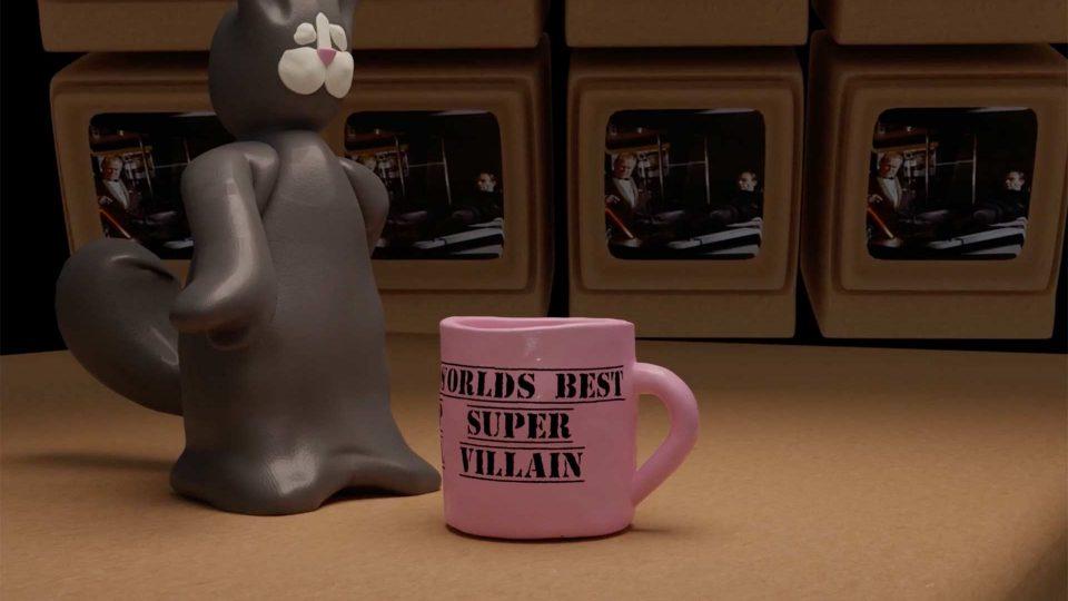 Screenshot aus Blofeld seine Katze