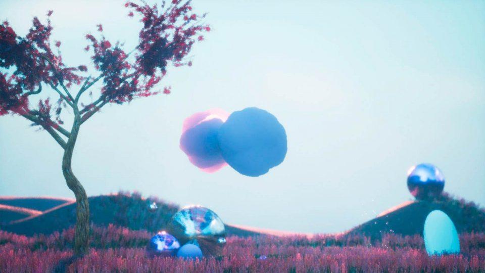 Screenshot aus Echtzeit Musikvisualisierung